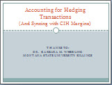 Accounting for Hedging Thumbnail