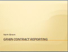 Grain Contract Reporting Thumbnail