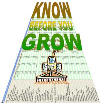Know Before You Grow