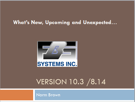 What's New 10.3/8.14