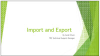 Import and Export Thumbnail
