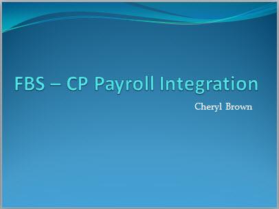FBS – CP Payroll Integration Thumbnail