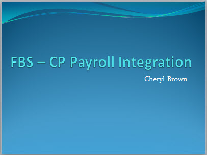 FBS – CP Payroll Integration Thumbnail