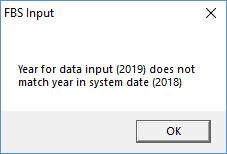 Input year warning