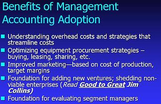 Benefits of Management Accounting