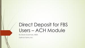 Direct Deposit-ACH