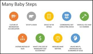 Many-Many Baby Steps